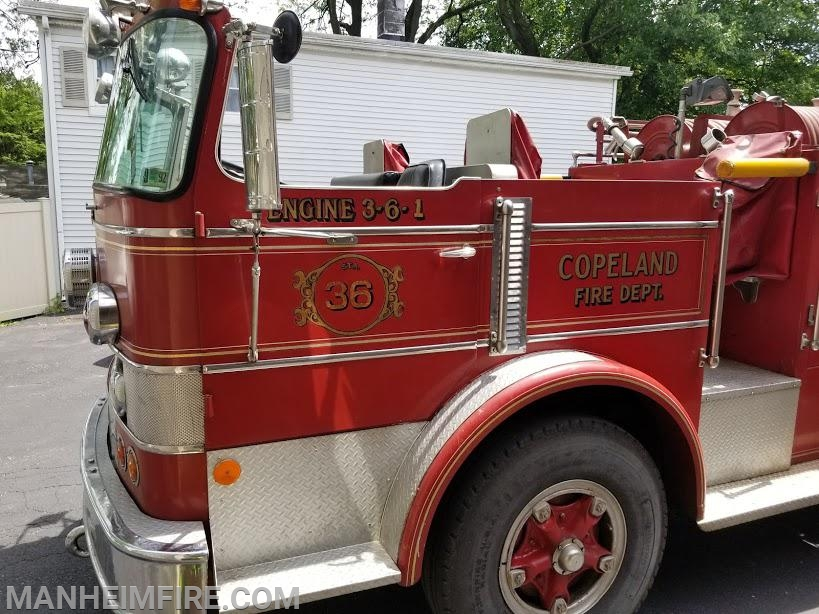 """Copeland Fire Dept. graphics on Howie when it arrived - notice the """"Manheim look""""?"""
