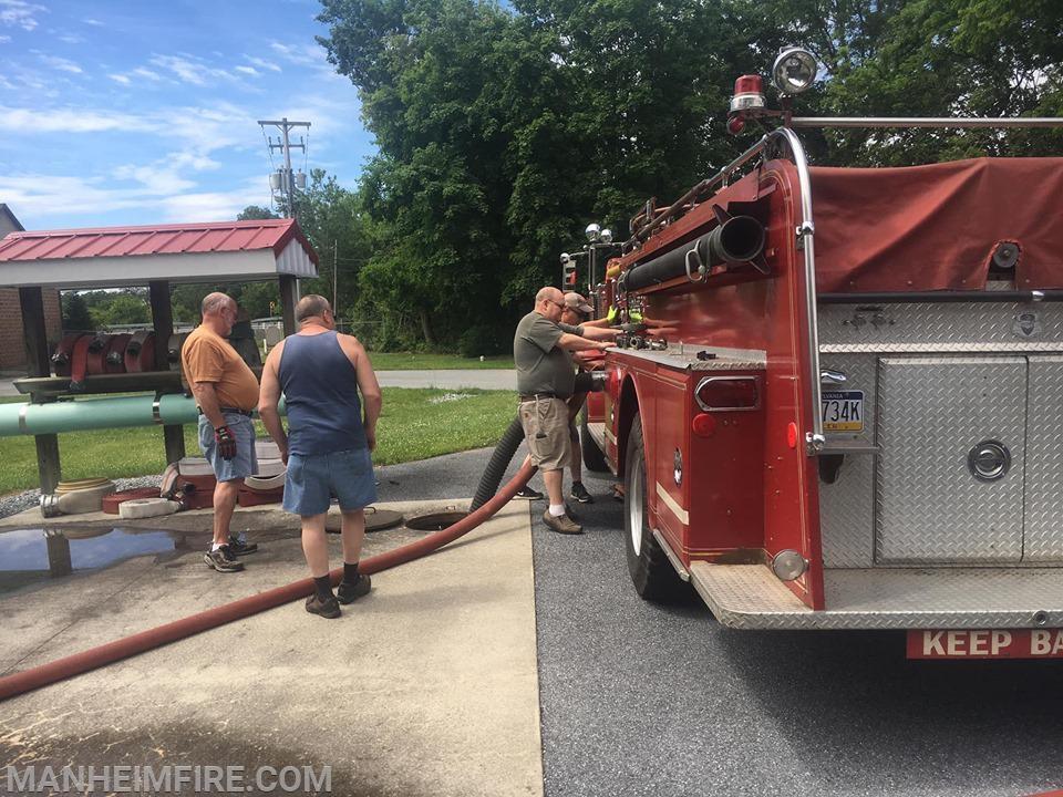 Engineers helping to pump Howie - June 15, 2019