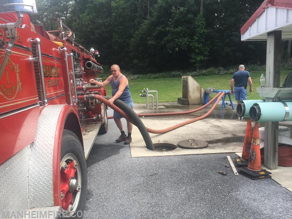 Engineers helping pump Howie - June 15, 2019